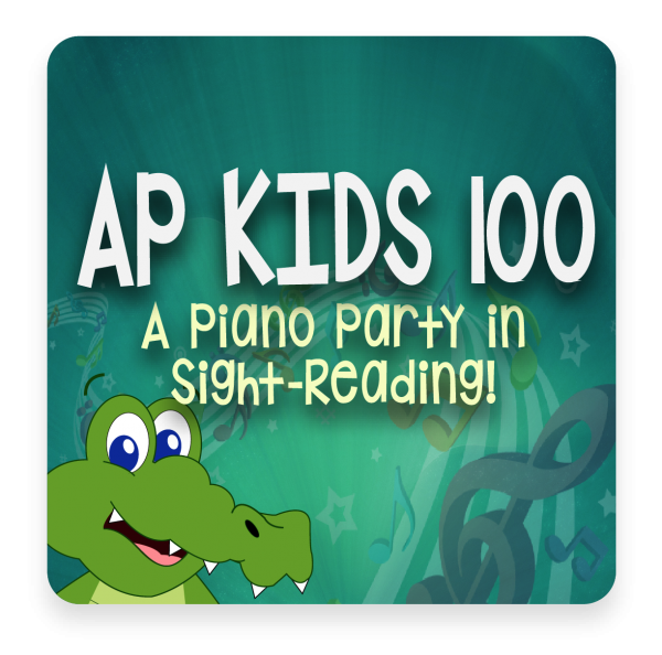 AP 100 Kids: A Piano Party in Sight-Reading USB Course Set (Includes Online Access)